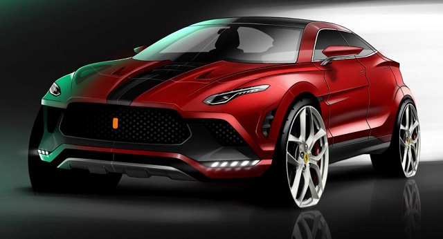 Ferrari SUV drawing